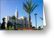 Mormon Temple Photography Greeting Cards - La Temple Children Greeting Card by La Rae  Roberts