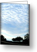 Cloudscape Photographs Greeting Cards - La Terre est Ronde Greeting Card by Danielle  Parent