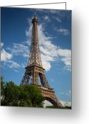 Architecture Greeting Cards - La Tour Eiffel Greeting Card by Inge Johnsson