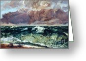Courbet Greeting Cards - La Vague Greeting Card by Pg Reproductions