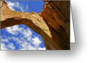 New Mexico Greeting Cards - La Ventana Natural Arch Greeting Card by Christine Till