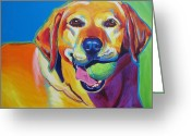 Dawgart Greeting Cards - Lab - Bud Greeting Card by Alicia VanNoy Call