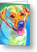 Dawgart Greeting Cards - Lab - May Greeting Card by Alicia VanNoy Call