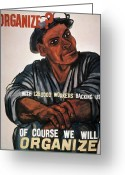 1930s Greeting Cards - LABOR: POSTER, 1930s Greeting Card by Granger