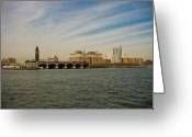 Nyc Cityscape Greeting Cards - Lackawanna Greeting Card by David Hahn