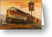 Locomotive Greeting Cards - Lackawanna Fast Freight Greeting Card by Christopher Jenkins