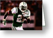 Running Back Greeting Cards - LaDainian Tomlinson - 01 Greeting Card by Paul Ward