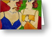 Spectacle Greeting Cards - Ladies at The Opera Greeting Card by Dave Sherwood-Adcock