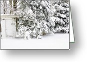 Virginia Winter Greeting Cards - Ladies Room Greeting Card by Thomas R Fletcher