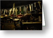 Copper Greeting Cards - Ladles of Tibet Greeting Card by Donna Caplinger
