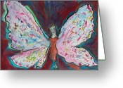 Storybook Greeting Cards - Lady Butterfly Greeting Card by Marlene Robbins