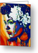 Blues Greeting Cards - Lady Day Greeting Card by Vel Verrept
