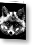 Sly Greeting Cards - Lady Fox Greeting Card by Madeline M Allen