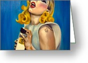 Lady Gaga Greeting Cards - Lady Gaga Commission Greeting Card by Emily Jones