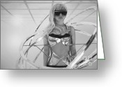 Photorealism Digital Art Greeting Cards - Lady GaGa Greeting Card by Kyle Walker