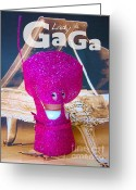 Little Monsters Greeting Cards - Lady Gaga Greeting Card by Ricky Sencion