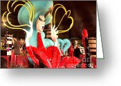 Lady Gaga Workshop Greeting Cards - Lady Gaga XV Greeting Card by Chuck Kuhn