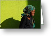 South Africa Greeting Cards - Lady in Green Greeting Card by Skip Hunt