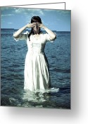 Edwardian Greeting Cards - Lady In Water Greeting Card by Joana Kruse