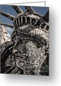 4th July Digital Art Greeting Cards - Lady Liberty Greeting Card by Danuta Bennett