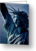 Kevin Sherf Greeting Cards - Lady Liberty Greeting Card by Kevin  Sherf
