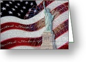Digitally Enhanced Greeting Cards - Lady Liberty Greeting Card by Susan Candelario