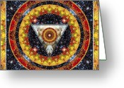 Sacred Geometry Greeting Cards - Lady Night Greeting Card by Bell And Todd