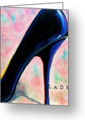 Ball Gown Painting Greeting Cards - Lady Greeting Card by Susi Franco