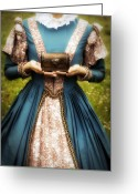 Chest Greeting Cards - Lady With A Chest Greeting Card by Joana Kruse