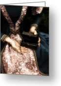 Elizabethan Greeting Cards - Lady With Keys Greeting Card by Joana Kruse
