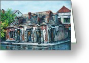 Louisiana Greeting Cards - Lafittes Blacksmith Shop Greeting Card by Dianne Parks