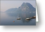 Alpine Panorama Greeting Cards - Lago di Lugano Greeting Card by Joana Kruse