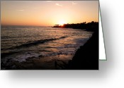 Surf Silhouette Digital Art Greeting Cards - Lagoa Greeting Card by Lauren Goia
