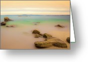 Horizon Over Water Greeting Cards - Lagon Breton Greeting Card by Philippe Doucet