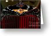 British Cars Greeting Cards - Lagonda Badge Greeting Card by Wingsdomain Art and Photography