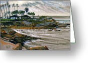 Beach Pastels Greeting Cards - Laguna Beach 91 Greeting Card by Donald Maier