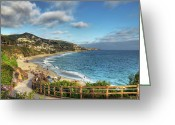 California Greeting Cards - Laguna Beach Shoreline Greeting Card by Eddie Yerkish