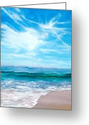 Reinhardt Greeting Cards - Laguna Christmas Greeting Card by Lisa Reinhardt