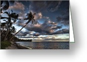 Lahaina Greeting Cards - Lahaina Evening Greeting Card by James Roemmling
