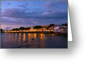 Evening Light Greeting Cards - Lahaina Roadstead Greeting Card by James Roemmling