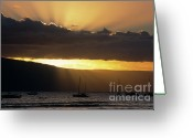Lahaina Greeting Cards - Lahaina Sunset - Maui Greeting Card by Sandra Bronstein
