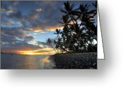 Lahaina Greeting Cards - Lahaina Sunset Greeting Card by James Roemmling