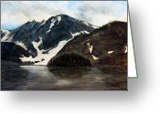 Ski Art Painting Greeting Cards - Lake Agnes Colorado Greeting Card by David Kehrli