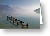 Flock Greeting Cards - Lake Annecy (lac Dannecy) Greeting Card by Harri