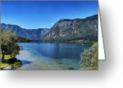 Lake Bohinj Greeting Cards - Lake Bohinj Greeting Card by Ingrid Dendievel