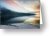 Lake Bohinj Greeting Cards - Lake Bohinj Greeting Card by John and Tina Reid