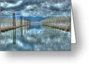 Idaho Greeting Cards - Lake Coeur dAlene Greeting Card by Tracy Thomas