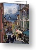 Lake Como Greeting Cards - Lake Como Italy Greeting Card by Al Hurley