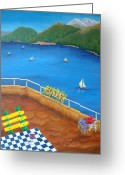 Lake Como Greeting Cards - Lake Como Greeting Card by Pamela Allegretto