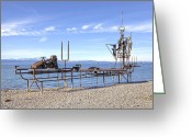 Steel Construction Greeting Cards - Lake Constance Art Greeting Card by Joana Kruse